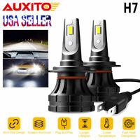 AUXITO H7 LED Headlight Bulbs 20000LM Kit Hi Low Beam Fog Lamp 6000K 1:1 Halogen