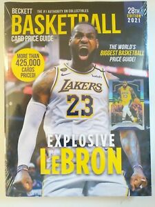 2021 28th Edition Beckett Basketball Card Price Guide NEW $29.95 Cover LeBron