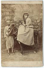 Photo cdv - Femme cavalière au Maghreb Algérie? 1870 amazone Afrique Africa