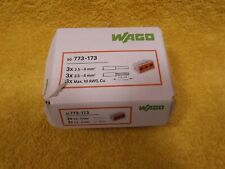 Wago 773-173 2.5 to 6mm 3 hole solid wire connectors, partial box of 32.