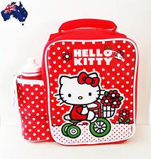 Aus Qlty-Zak Brand-Hello Kitty Insulated Lunch Box/Cooler Bag & Drink Bottle