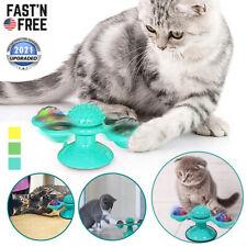 New Windmill Cat Toys Fidget Spinner for Kitten w/ Led and Catnip Ball Turntable