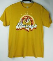 Buc-ees New Short Sleeve T Shirt Mens Medium Yellow Beaver Front Graphics