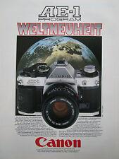 7/1981 PUB CANON AE-1 APPAREIL PHOTO CAMERA KAMERA ORIGINAL GERMAN AD
