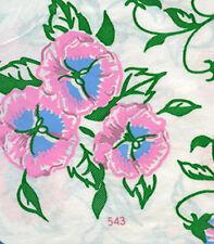 1950s Charming Uncut Vogart Textilprint Pansy Hot Iron Color Transfer 543 Orig