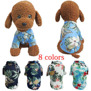 Hawaiian Pet Dog T Shirts Cat Dog Summer Beach T-Shirt Vest for Pet Dog Puppy