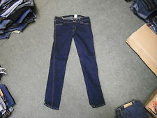 "& And Low Waist Skinny Jeans Waist 32"" Leg 32"" Faded Dark Blue Ladies Jeans"