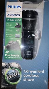 New Philips Norelco 2300 Convenient 4D Flex Heads Washable Cordless Shaver