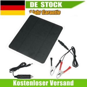 Solarmodul 12V 20W Solarpanel Solarzelle USB Batterie Ladegerät für Auto Boot 1X