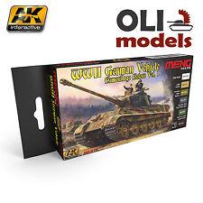 WW2 GERMAN VEHICLE CAMOUFLAGE Vol.1 Paint Set 6x17ml  AK Interactive Meng MC-813