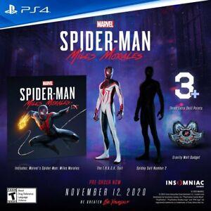 Spider-Man Miles Morales PS5 PS4 Playstation 5 4 Bonus DLC requires Game