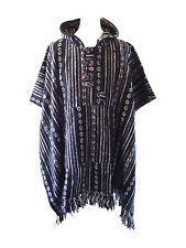 Brushed Cotton Stripe Nepal Poncho Fleece Hippy Festival