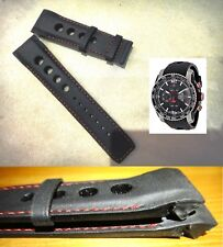 Genuine Tissot 23mm PRS516 EXTREME AUTOMATIC Leather Band strap bracelet black