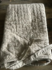 $39 Pottery Barn Pickstitch Cotton/Linen Quilted Stnd Sham - Flax Natural NWT