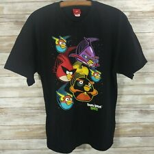 Black Angry Birds Space T-shirt XL X-Large Cotton