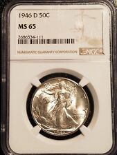 1946-D Walking Liberty Half Dollar NGC MS-65