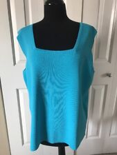 NEW Size XL Bright Sky Blue Sleeveless Top