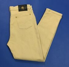 Jeans mash donna usato stretch skinny w36 tg 50 denim beige vita alta hot T3237