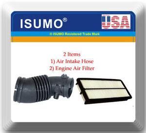 2 Pcs Engine Air Intake Hose & Air Filter Fits: ACURA MDX 2007-2009 V6 3.7L