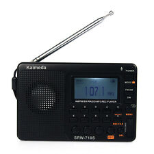 Portable Shortwave Radio AM/FM Stereo Receiver MP3 REC Recorder&Sleep Timer