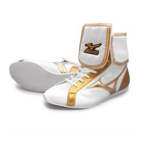 Mizuno Boxing Ring shoes White × Gold × Gold Made in JAPAN free shipping JPN NEW