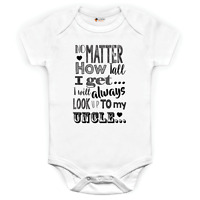 I will always look up to my Uncle baby grow babysuit Father's Day gift Birthday