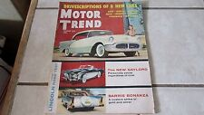Motor Trend 1955 Magazine: 8 New Cars + Gaylord + Barris + Lincoln + Studebaker
