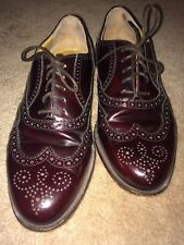 Nordstrom Burgandy Wingtip Shoes Italian Made size 10 W
