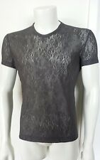 CAROL CHRISTIAN POELL Men's Super Rare pewter coated LACE TEE SHIRT