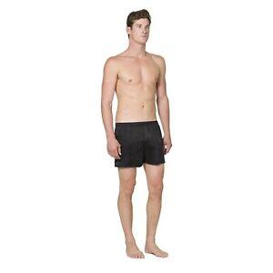 NEW INTIMO Sandwashed Silk Boxer Black Size M/L