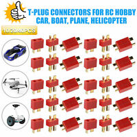 10/20Pairs T-Plug Connectors Male/Female Deans Style for LiPo Battery Car Plane