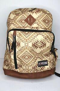 Jansport Trans Backpack Southwest Brown Sand Laptop Back Pack Book Bag Aztec