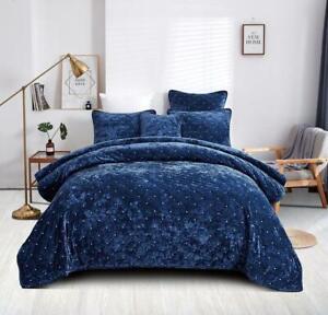 Tache Luxury Soft Plush Velvet Royal Blue Diamond Tufted Coverlet Bedspread Set