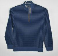 "NEW Polo Golf Ralph Lauren Mens Size L Blue ""The Biltmore"" 1/4 Zip Striped $128"