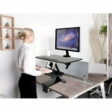 Bramley Power Premium Height Adjustable Standing Desk Converter, Black