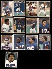 1983 New York Giants Sticker Set LAWRENCE TAYLOR HARRY CARSON BRAD VAN PELT GRAY