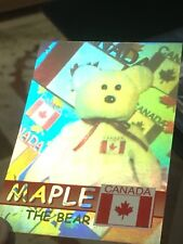 Ty Beanie Babies Trading Card Maple The Bear Hologram, Series 2