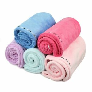 Quick Drying Hair Absorbent Turban Towel Cap Turban Wrap Soft Thick Shower Lotus