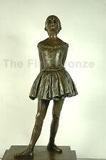 Signed: Degas, The Little Fourteen Year Old Dancer Bronze Ballerina Sculpture