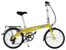 "Ford by Dahon 20"" Convertible Yellow 7 Speed Folding Bicycle"