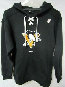 Pittsburgh Penguins Men's Size Medium Hooded Sweatshirt Black A1 65