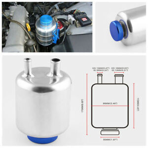 Car Truck Fuel Power Steering Tank Fluid Reservoir Racing Breather Oil Kettle