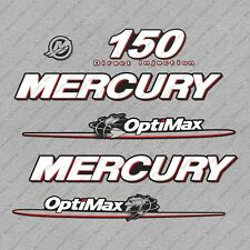 Mercury 150 hp Optimax outboard engine decals sticker set reproduction 150HP