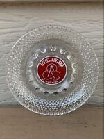 Hotel Riviera Vegas Rare Early Design Red White Casino Logo VTG Ashtray Hobnail