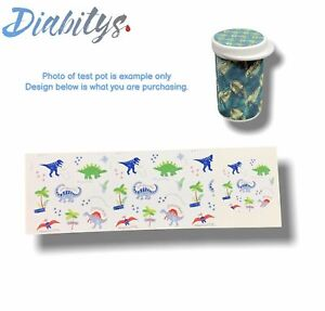Accu-chek Aviva Test Pot Sticker Decal - Dinosaurs
