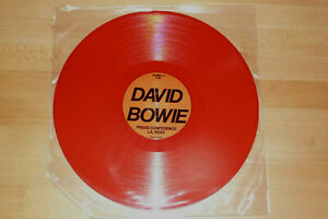 Vinyl-LP David Bowie Press Conference LA Roxy, rotes Vinyl, rar
