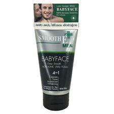 4oz 120ml. Smooth E MEN Baby Face Foam Oil Cleanser Reduce Acne Wrinkles 4 in 1