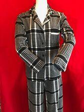 BNWT DKNY Women's Super Soft Black White Check Pyjama Set Size XS 8/10 Gift Idea
