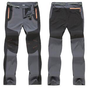 Mens Women Cargo Trousers Waterproof Rain Motorcycle Hiking Outdoor Work Pants