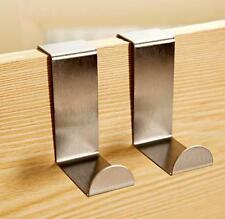 2x Over Door Hook Stainless Kitchen Cabinet Clothes Hanger Organizer Holder HOAU